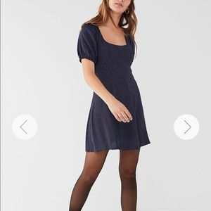 NWT Urban Outfitters Blue w/ White Dots Dress SM
